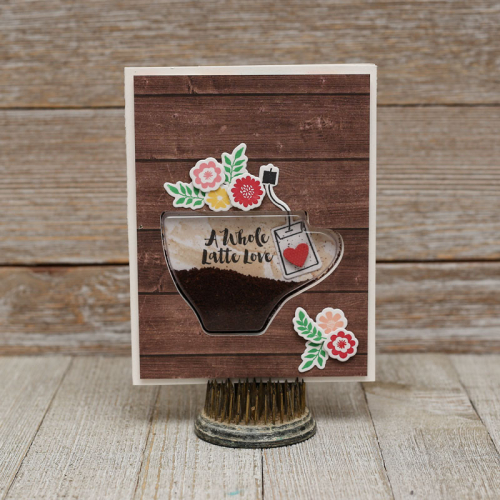 A Whole Latte Love Shaker card by Summer Fullerton for Jillibean Soup