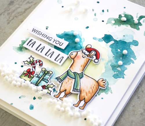 Card created using llama shaker stamp set and shaker fillers.  How to stamp on a card.  Jilllibean Soup cardmaking.  #jillibeansoup #cardmaking #lllama #shakerstampset #shakerfillers