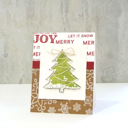 Shaker card using shaker stamp sets, tree shake card base and insert.  How to make a shaker card.  Jilllibean Soup cardmaking.  #jillibeansoup #cardmaking #shapeshaker #tree #shakerstampset
