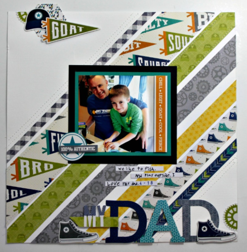 """2 Cool For School"" scrapbooking layout using letter diecuts, pea pod parts, and alphabeans.  Jillibean Soup scrapbooking.  How to use to create a scrapbooking layout using 2 Cool For School, pea pod parts, letter diecuts, and alphabeans. #2coolforschool #peapodparts #letterdiecuts #scrapbookinglayouts"