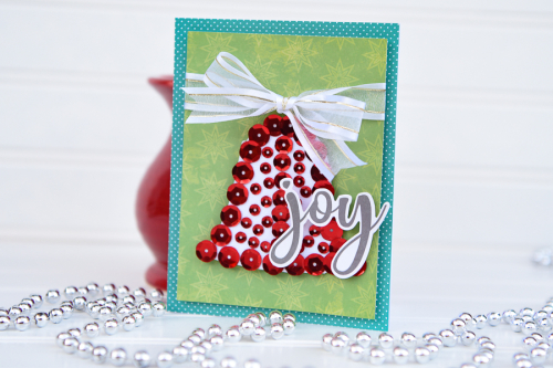 Card created using the Jillibean Soup You Make Miso Happy collection, All About Dots paper pad, and adhesive sequins.  How to create a card with You Make Miso Happy.  Jillibean Soup cardmaking.  #jillibeansoup, #cardmaking, #youmakemisohappy, #allboutdotspaperpad, #adhesivesequins