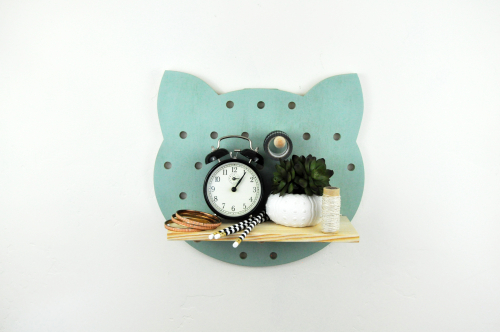 Jillibean Soup Cat Shaped Pegboard available at Joann stores and online at www.joann.com