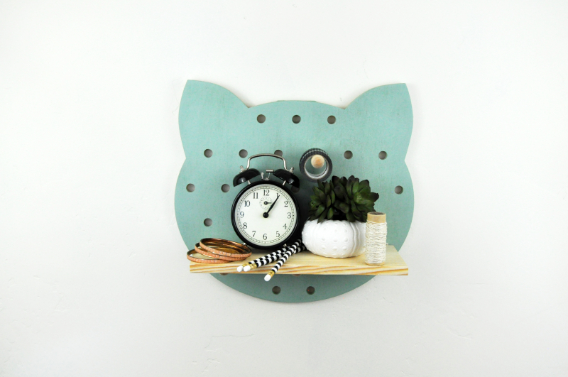 Painted Cat Pegboard Photo 2