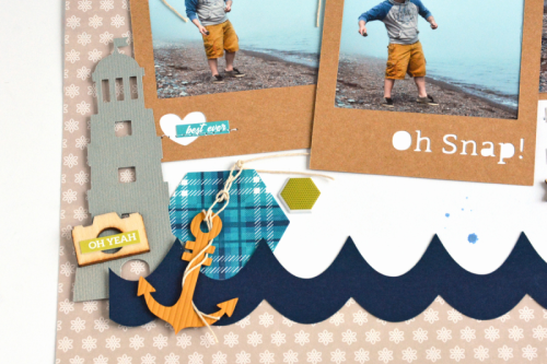 Scrapbook layout using 2 Cool For School and cut files.  How to use a cut file on a scrapbook layout.  Jillibean Soup scrapbooker.  #jillibeansoup #scrapbooker #2coolforschool #cutfile