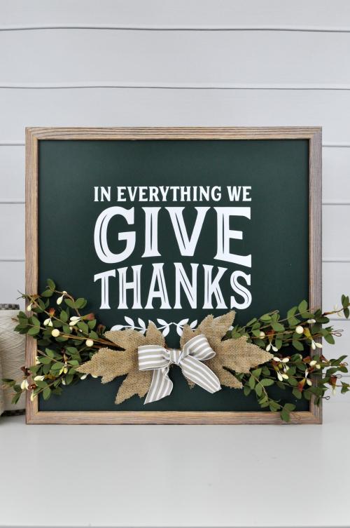Give Thanks Chalkboard Photo 3 by Jen Gallacher