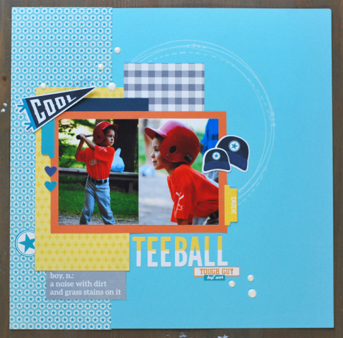 Scrapbook layout using 2 Cool For School and Alphabeans.  How to create a scrapbook layout with 2 Cool For School.  Jillibean Soup scrapbooker.  #jillibeansoup #scrapbooker #2coolforschool #alphabeans