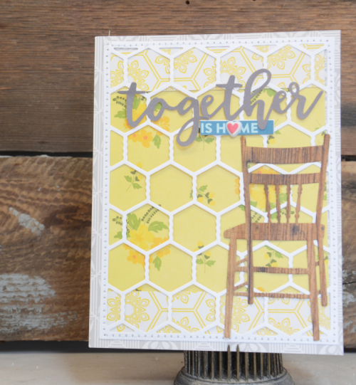 Bohemian Brew card using patterned papers, coordinating stickers, puffy stickers, and soup labels.  How to create a card with Bohemian Brew.  Jillibean Soup cardmaking.  #jillibeansoup #cardmaking #bohemianbrew
