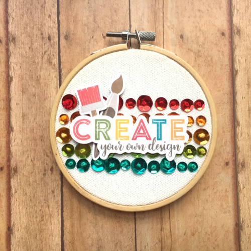 Home decor mix the media project using embroidery hoop, pea pod parts, and sequins.  How to create a home decor piece using mix the media.  Jillibean Soup Mix the Media.  #jillibeansoup #mixthemedia #homedecor #diy #embroideryhoop