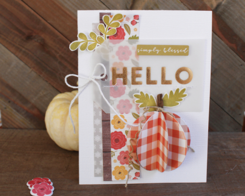 Card created using Farmhouse Stew, Shades of Color Soup, Foil Tag and Healthy Hello stamp set.  How to stamp on a card.  Jillibean Soup cardmaking.  #jillibeansoup #cardmaking #farmhousestew #shadesofcolorsoup, #stamping, #foiltag
