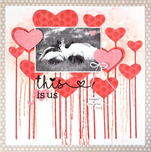 Scrapbook layout using shades of color soup, heallthy hello soup, and cut files.  How to use a cut file on a scrapbook layout.  Jillibean Soup scrapbooking layout.  #jillibeansoup #scrapbooker #healthyhello #shadesofcolorsoup #cutfile