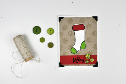 Christmas Stocking Shaker Card by Jen Gallacher for Jillibean Soup