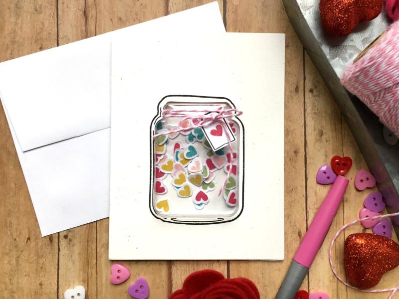 Jillibean-Soup-Kira-Ness-Mason-Jar-Heart-Card-JB1764-February-2019