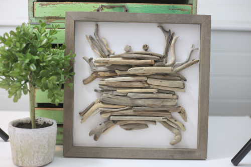 Mix the media home decor project using rustic white frame.  How to create a home decor piece.  Jillibean Soup projects.  #jillibeansoup #projects #mixthemedia #rusticframe #homedecor