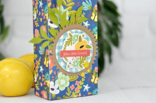 """Jillibean Soup """"Garden Harvest"""" Die Cut Box by Jen Gallacher #giftbox #diecutting #jillibeansoup #gardenharvest"""