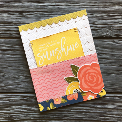 Card using Jillibean Soup's Garden Harvest and You Make Miso Happy patterned papers.  How to create a card using the Garden Harvest and You Make Miso Happy collections.  Jillibean Soup cardmaking.  #jillibeansoup #cardmaking #gardenharvest #patternedpaper #youmakemisohappy