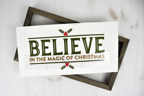 Believe Christmas Countdown and Advent Calendar from Jillibean Soup designed by Jen Gallacher. #adventcalendar #christmascraft #mixthemedia #jillibeansoup