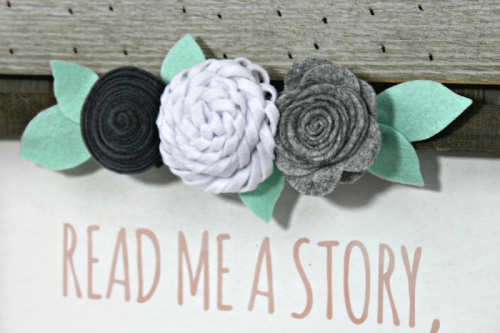 Mix the Media home decor project using a Rustic Frame with white center, cut file, and felt flowers.  How to make your own home decor.  Jillibean Soup DIY.  #jillibeansoup #mixthemedia #homedecor #diy #feltflowers #rusticframe