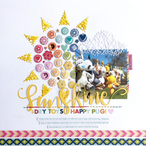 """""""Bohemian Brew"""" scrapbook layout using patterned paper from Bohemian Brew and 2 Cool For School, coordinating stickers, puffy stickers, shapeshaker fillers, and a cut file.  How to create a scrapbook layout with a cut file. Jillibean Soup scrapbooker.  #jillibeansoup #scrapbooker #bohemianbrew #2coolforschool #cutfile"""