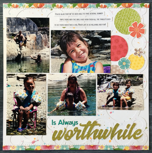 Two page scrapbook layout using Bowl of Dreams, Shades of Color Soup, and 2 Cool For School.  How to create a two page scrapbook layout.  Jillibean Soup scrapbooker.  #jillibeansoup #scrapbooker #bowlofdreams #shadesofcolorsoup #2coolforschool