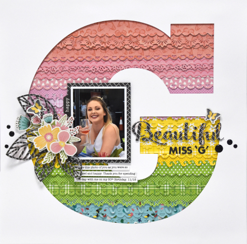Scrapbook layout using Jillibean Soup's Garden Harvest collection, You Make Miso Happy collection, all about dots paper pad, and all about plaid paper pad.  How to create a scrapbook layout with Garden Harvest and You Make Miso Happy.  Jillibean Soup scrapbooker.  #jillibeansoup #scrapbooker #youmakemisohappy #gardenharvest #allaboutdotspaperpad #allaboutplaidpaperpad