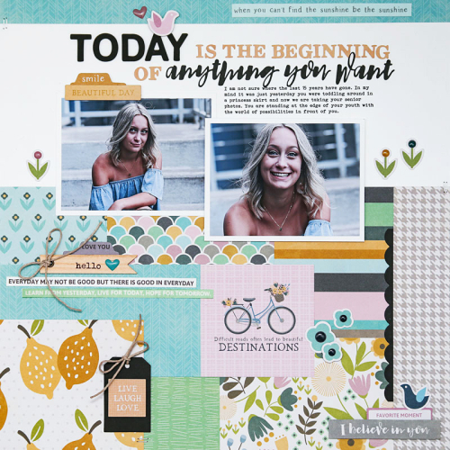 Scrapbook layout using Jillibean Soup's Spoonful of Soul Collection.  How to create a scrapbook layout with Jillibean Soups Spoonful of Soul collection.  Jillibean Soup scrapbooker.  #jillibeansoup #scrapbooker #layout #spoonfulofsoul