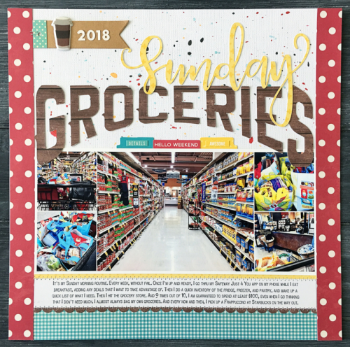 Scrapbook layout using farmhouse stew, coordinating stickers, puffy stickers, tags, and cut files.  How to create a scrapbook layout with a cut file.  Jillibean Soup scrapbooker.  #jillibeansoup #scrapbooker #farmhousestew #cutfile #coordinatingstickers #tags #puffystickers