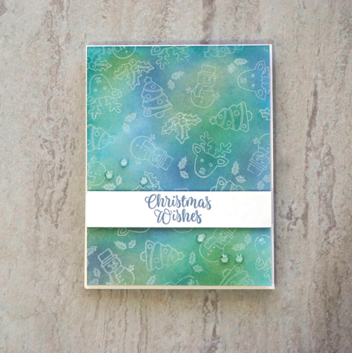 Card idea featruing shaker clear stamps.  How to stamp on a card.  Jillibean Soup cardmaking.  #jillibeansoup #cardmaking #stamping #shakerclearstamp