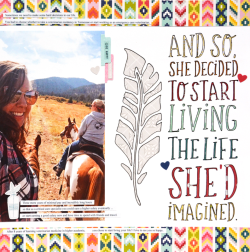 Scrapbook layout using the Bohemian Brew collection and digital cut files.  How to create a scrapbook layout with a digital cut file.  Jillibean Soup scrapbooker.  #jillibeansoup #scrapbooker #bohemianbrew #cutfile