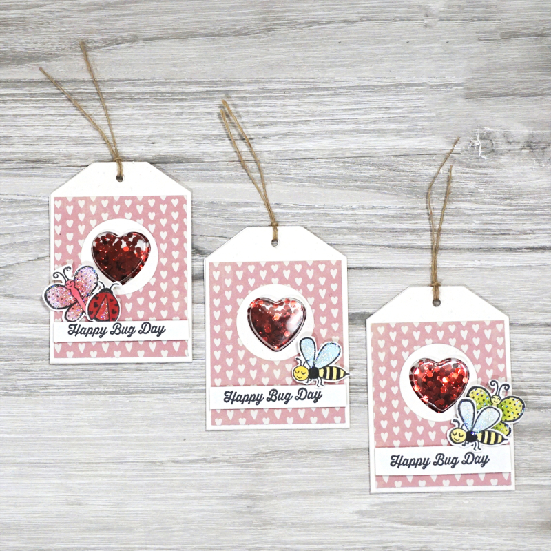 Jillibean Soup - Mindy Baxter -Bugs and Kisses Shaker Cards- JB0842 - January 2019 - 2