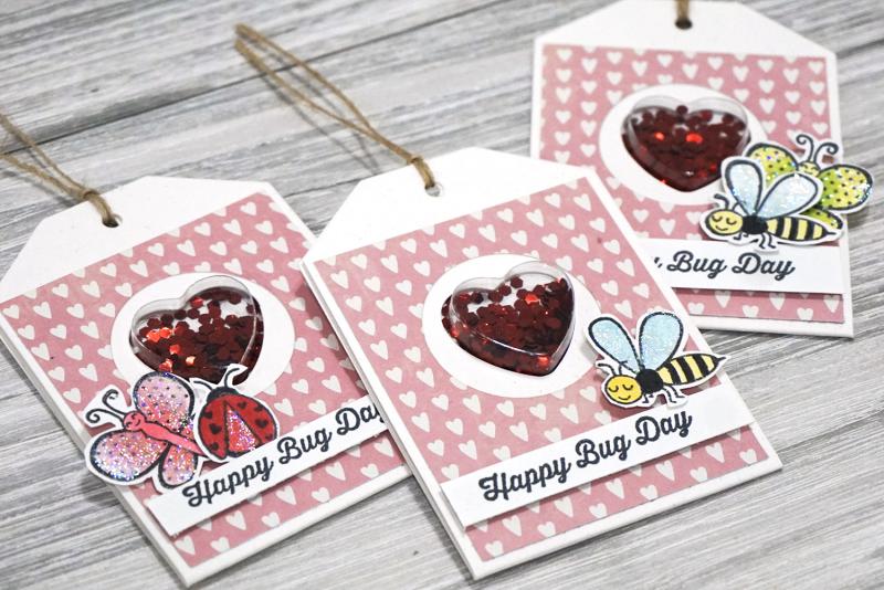 Jillibean Soup - Mindy Baxter -Bugs and Kisses Shaker Cards- JB0842 - January 2019 - 1