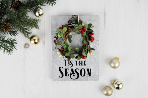 Galvanized Christmas Clipboard