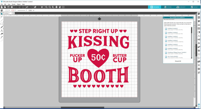 Kissing Booth Sign Step 1