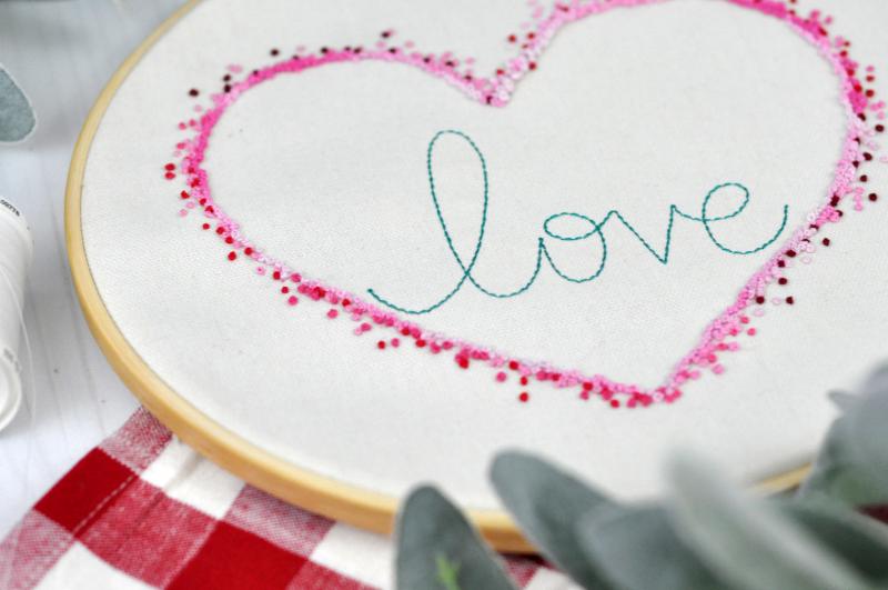 Jen Harkin Love Embroidery Hoop Photo 3