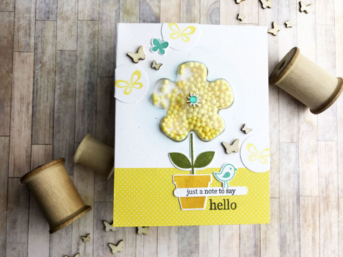 Teri Yellow Flower Hello Card Photo 1