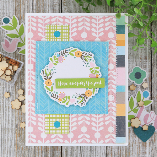 Card using Jillibean Soup's Rainbow Roux and Spoonful of Soul collections.  How to create a card based off of a sketch.  Jillibean Soup cardmaking.  #jillibeansoup #cardmaking #sketch #rainbowroux #spoonfulofsoul