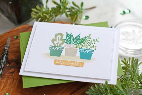 Card created using Jillibean Soup's You Make Miso Happy stamps and coordinating stickers.  How to stamp on a card.  Jillibean Soup cardmaking.  #jillibeansoup #cardmaking #stamping #youmakemisohappy #stamps #coordinatingstickers