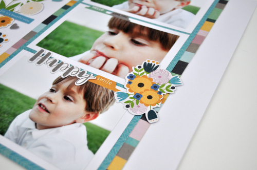 """Layering die cuts on a layout featuring the """"Spoonful of Soul"""" collection from Jillibean Soup. Video tutorial by Jen Gallacher. #jillibeansoup #scrapbooking #scrapbookingprocessvideo"""