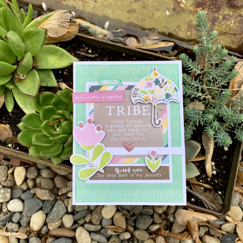 Card created using Jillibean Soup's Spoonful of Soul collection including patterned papers, epoxy stickers, and pea pod parts.  Jillibean Soup cardmaking.  #jillibeansoup #cards #cardmaking #spoonfulofsoul