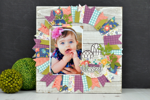 Jillibean Soup Pallet Frame with Garden Harvest designs