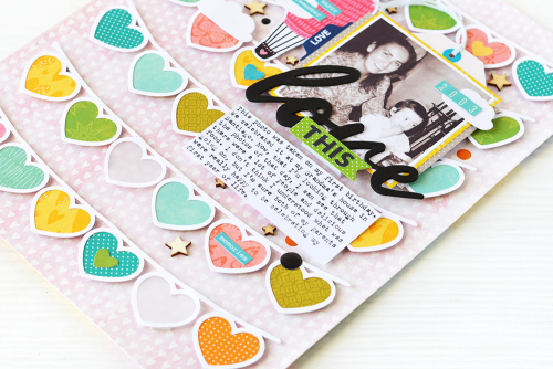Scrapbook layout tutorial video using Jillibean Soup's You Make Miso Happy collection, Spoonful of Soul collection, Rainbow Roux collection, Garden Harvest collection,  paper pads, monster stamp and die set and a cut file.  Jillibean Soup Layout Tutorial Video.  #jillibeansoup #scrapbooker #scrapbooklayout #tutorialvideo #youmakemisohappy #rainbowroux #spoonfulofsoul #gardenharvest