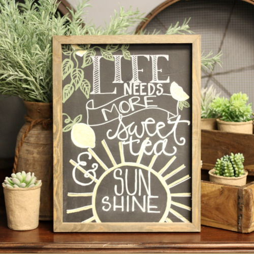 Home decor mix the media project using Jillibean Soup's 16 x 20 rustic white frame.  How to make a chalkboard frame.  Jillibean Soup Mix the Media.  #jillibeansoup #mixthemedia #homedecor #project #rusticwhiteframe #chalkboard