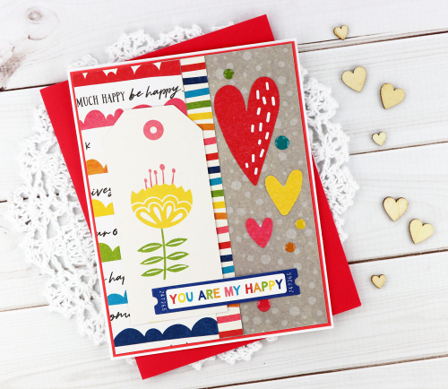 Cards created using Jillibean Soup's Rainbow Roux collection including patterned paper, pea pod parts, and epoxy stickers.  How to create a card with the Rainbow Roux collection.  Jillibean Soup cardmaking.  #jillibeansoup #cardmaking #cards #rainbowroux