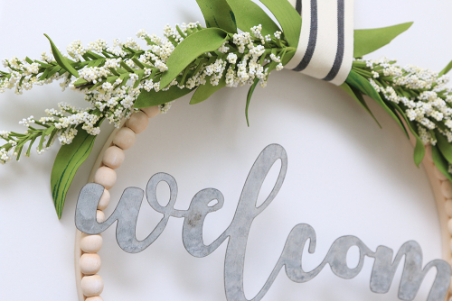 Home decor project using Jillibean Soup's Mix the Media Galvanized Word Welcome.  How to create a mix the media home decor project.  Jillibean Soup projects.  #jillibeansoup #projects #homedecor #mixthemedia #galvanizedword #welcome