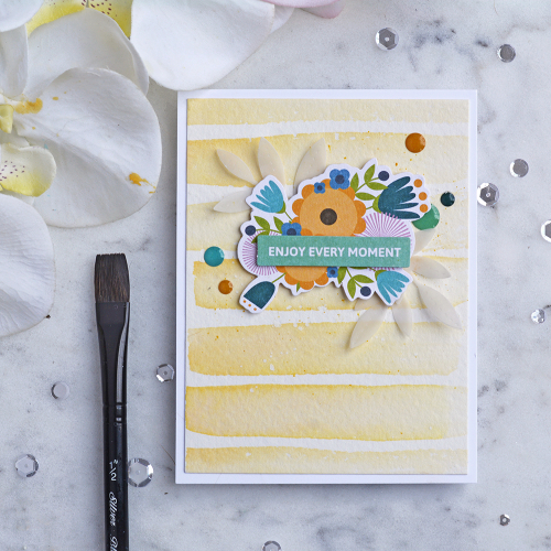 Card using Jillibean Soup's Spoonful of Soul pea pod parts and epoxy stickers.  World card making day challenge.  Jillibean Soup cardmaking.  #jilllibeansoup #cardmaking #cards #worldcardmakingdaychallenge #watercoloring #spoonfulofsoul