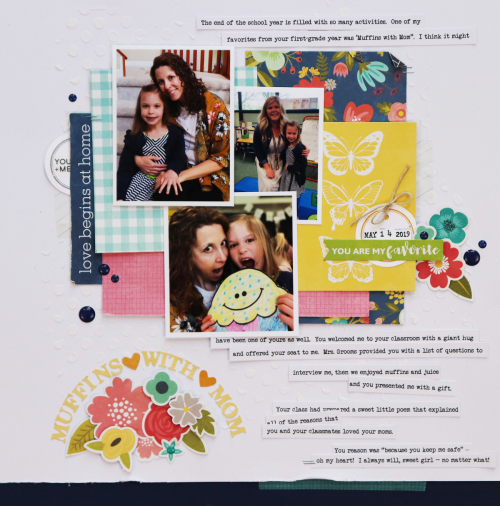 Scrapbook layout using Jillibean Soup's Garden Harvest, Rainbow Roux, and Spoonful of Soul collections.  How to design a creative title for your scrapbook layout.  Jillibean Soup scrapbooker.  #jillibeansoup #scrapbooker #scrapbooklayout #title #gardenharvest #spoonfulofsoul #rainbowroux