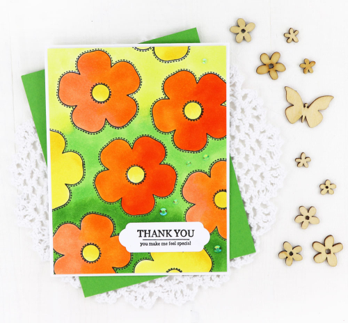 Stamped cards using Jillibean Soup's Flower Bloom stamp, All About Dots paper pad, and All About Plaid paper pad.  How to stamp on a card.  Jillibean Soup cardmaking.  #jillibeansoup #cardmaking #stamp #flowerbloom #allaboutdotspaperpad #allaboutplaidpaperpad