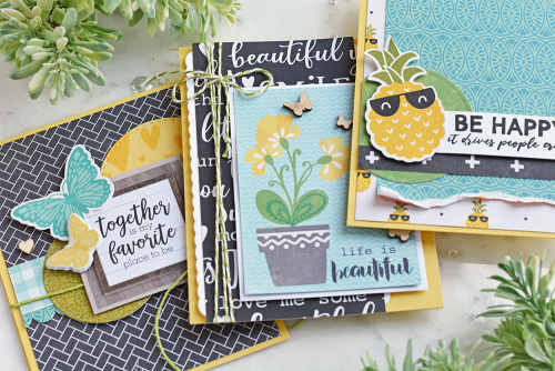 Cards created using Jillibean Soup.  One color scheme, three cards.  Jillibean Soup cardmaking.  #jillibeansoup #cardmaking #cards