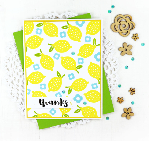 Stamped card using Jillibean Soup's Spoonful of Soul clear stamps, Thankful Butterfly stamp and die set, All About Plaid paper pad, and sequins.  Repetitive stamping on a card.  Jillibean Soup cardmaking.  #jillibeansoup #cardmaking #cards #stamp #repetitive #spoonfulofsoul