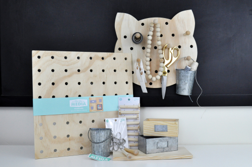 Shaped Pegboard from Hampton Art and Jillibean Soup for JoAnn stores