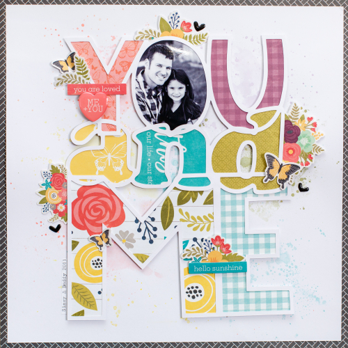 Scrapbook layout using Jillibean Soup's Garden Harvest collection including patterned paper and pea pod parts.  How to create a layout with the Garden Harvst collection.  Jillibean Soup scrapbooker.  #jillibeansoup #scrapbooker #layout #gardenharvest